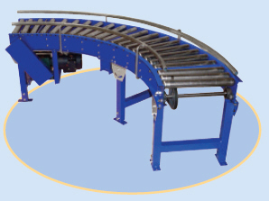 V-Belt Driven Curve Conveyor
