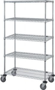 Wire Shelf Mobile Cart